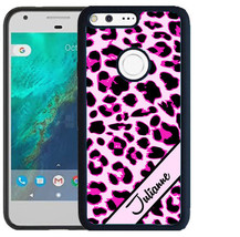 PERSONALIZED RUBBER CASE FOR GOOGLE PIXEL & PIXEL XL PINK LEOPARD CHEETAH - $12.98