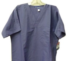 Crest Scrub Top S Uniforms Periwinkle Chest Pocket Scrubs Discontinued New - $19.37