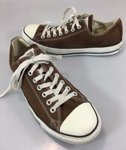 Converse All Star 10 Mens 12 Womens EU 44 Brown Canvas Sneakers Gym Shoes - $43.61