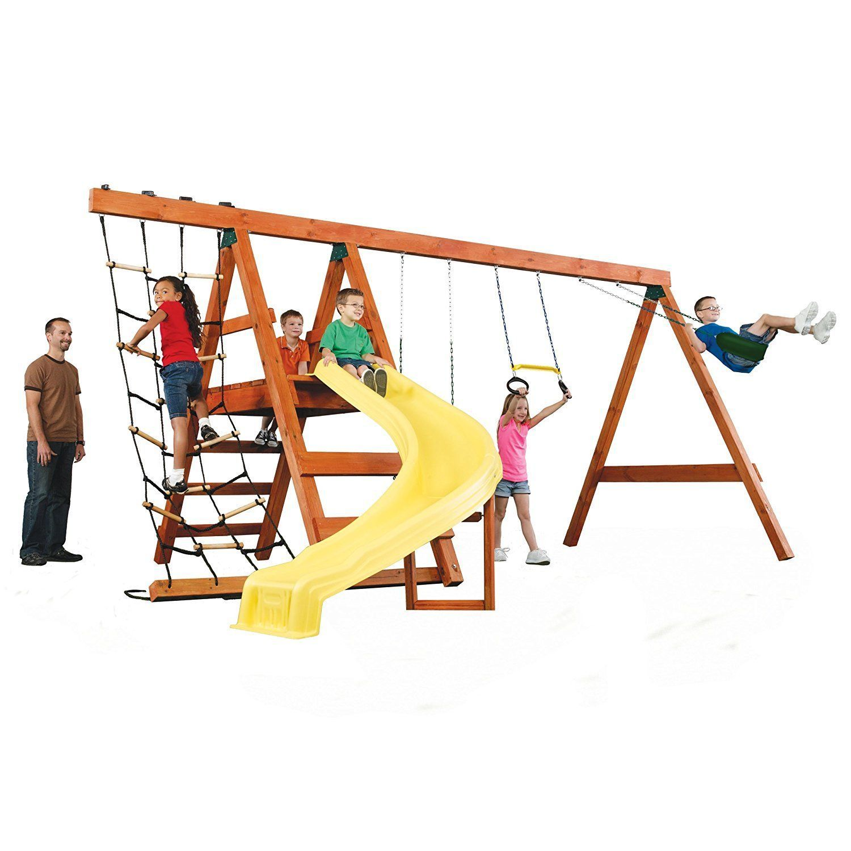 Kids Swing Set DIY Kit Play Ground Back Yard Wooden Play ...