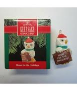 Vintage 1990 Hallmark Home for the Owlidays Owl Christmas Ornament No. Q... - $6.99