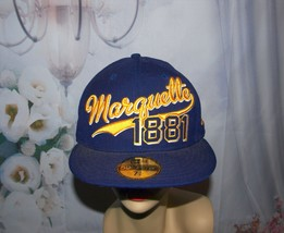 Marquette University Hat Gold Eagles NCAA 100% Wool Heavy Fitted Size 7 1/4 L - $19.75