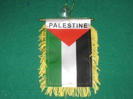 "PALESTINE FLAG MINI BANNER 4""x6"" CAR WINDOW MIRROR NEW - $3.95"