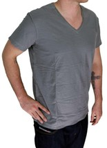 NEW DIESEL MEN'S PREMIUM COTTON GRAPHIC V-NECK SHIRT T-SHIRT T-TOSSIK DARK GREY image 1