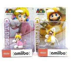 Super Mario 3D World Cat Peach and Cat Mario Amiibos  - $67.06