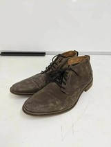 Bullboxer Mens Eldon Chukka Boots Brown Leather Lace Up Low Top Almond T... - $49.49