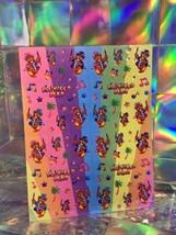 SALE⚡️S676  Lisa Frank Mini Hollywood Bear  Music Notes ⭐️ Sticker Sheet Full image 2