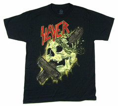 Slayer-Cross Through Skull 2015 Tour-2X Black  T-shirt - $21.28
