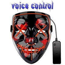 LED Halloween Mask Light Up Purge Mask for Scary Glowing Halloween Mask ... - $14.25 CAD