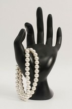 2 Vintage Faux Pearl Bracelets with Gold Tone Metal Clasps 8 Inches Long - $14.95