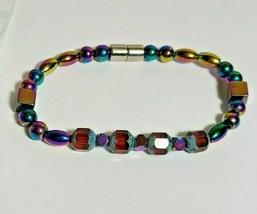 Magnetic Hematite Bracelet 7.5 inch Single Strand  (MAG-006)