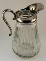 VIntage Godinger GSA Glass & Silver Ribbed Pitcher - $54.68