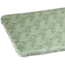 Marbled Elasticized Banquet Table Cover-48x24-Green - $14.59