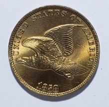 1858 Flying Eagle Head Penny / Cent Coin Lot# 818-77