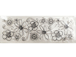 Flower Medley Clear Cling Stamp, Perfect for Cards!