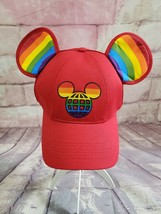 NWT Disney Pride Rainbow Embroidered Mickey Mouse Ears Adult Baseball Cap Hat - $17.09