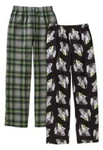Faded Glory Boy's Fleece & Brushed Jersey Sleep Pants Size X-Small Wolf Plaid - $13.85