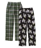 Faded Glory Boy's Fleece & Brushed Jersey Sleep Pants Size X-Small Wolf ... - $13.85