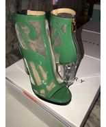 Katy Perry The Richie Mesh Patent Heels Green Size 6.5 New In Box 4.25 I... - $74.25