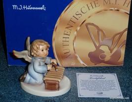 """""""Zealous Xylophonist"""" Goebel Hummel Angel Figurine #2096/N TMK8 - MINT WITH BOX! - $133.85"""