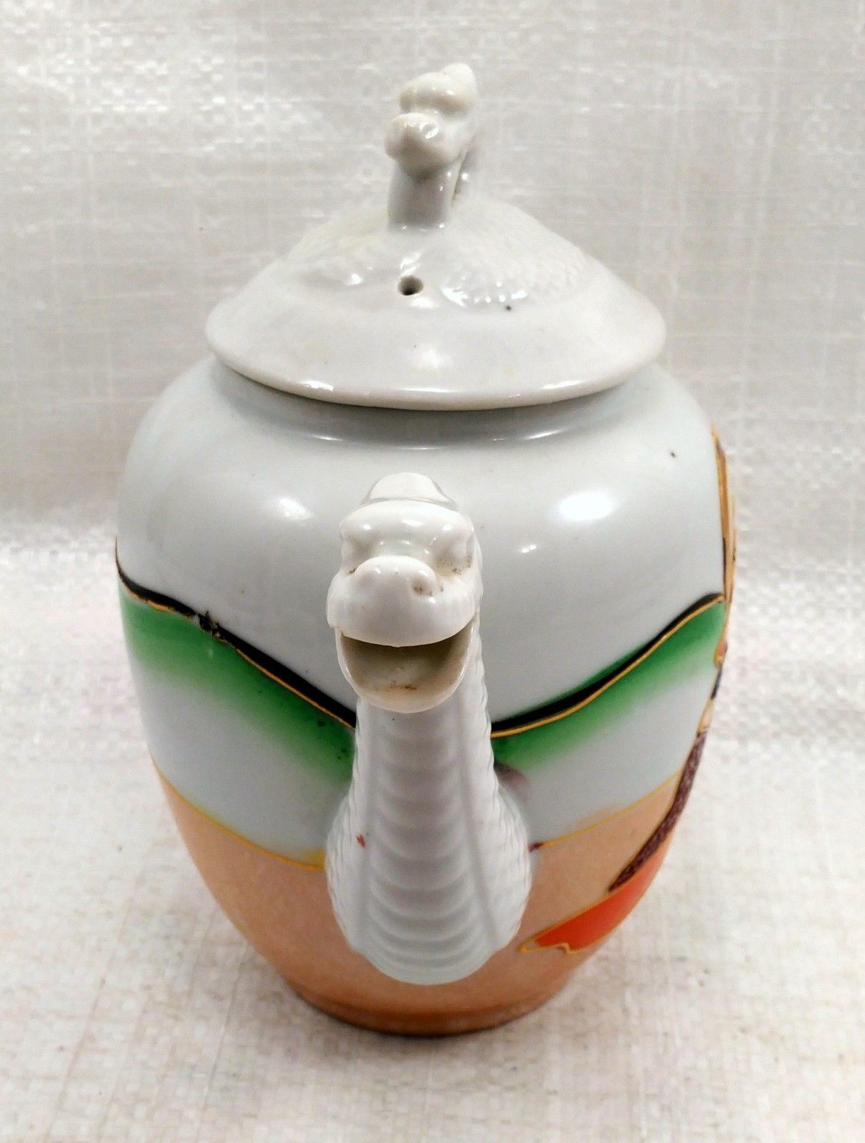 "Dragon Ware Tea Pot ""Mepoco Ware"" Japanese w/ creamer no lid"