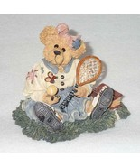 Boyd Bearstone Resin Bears Chrissie Game Set Match Tennis Figurine #2277... - $8.56