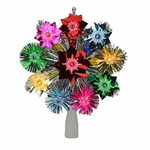 Northlight Lighted Tinsel Starburst Star Christmas Tree Topper with Mult... - $16.26