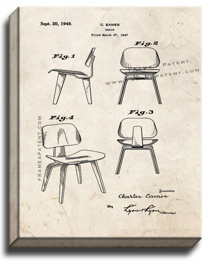 Primary image for Chair Patent Print Old Look on Canvas