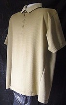 Van Heusen Short Sleeve Polo Shirt Men's Size XXL Three Button Light Bro... - $6.99