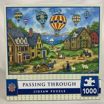 Master Pieces Jigsaw Puzzle Passing Through 1000 Piece Hot Air Balloons - $26.07