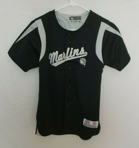 Florida Marlins Youth Medium Stitched Jersey MLB Baseball Black Miami Old Logo - $14.99