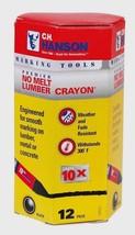 """Hanson Black Lumber Crayon 0.5/"""" x 4.5/"""" Metal lumber Concrete /& More 3~New C.H"""