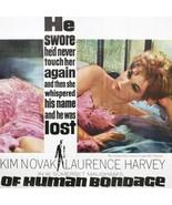 "KIM NOVAK HUGE 81""x81"" OF HUMAN BONDAGE Genuine Vintage Movie Poster 196... - $359.10"