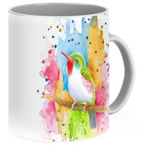 Coffee Mug Cup 11oz or 15oz Made in USA Bird 72 art painting L.Dumas - $19.99+