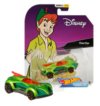 Hot Wheels Disney Peter Pan Character Cars Series 2 2/6 Mint on Card - $10.88