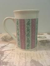 Vintage Royal Norfolk Floral Striped Porcelain Coffee Cup  - $9.00