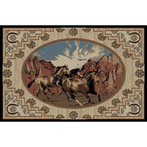 Horse Southwestern Lodge Cabin Horses Area Rug **FREE SHIPPING** - $225.00