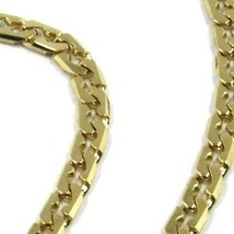 """SOLID 18K GOLD GOURMETTE CUBAN CURB 18K YELLOW GOLD CHAIN OVAL WAVE 2.5mm, 24"""" image 2"""