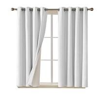 Deconovo Faux Linen Blackout Curtains with 3 Pass Coating Energy Efficie... - $48.34