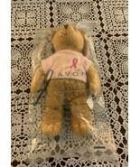 Brand New 2001 Avon Breast Cancer Awareness Stuffed Plush Bear 7 Inch Pi... - $11.49