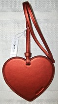 Coach Boxed Leather Heart Charm Ornament Glitter Edges 21517 NWT Metalli... - $29.00