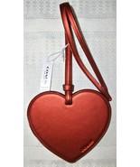 Coach Boxed Leather Heart Charm Ornament Glitter Edges 21517 NWT Metalli... - $29.00