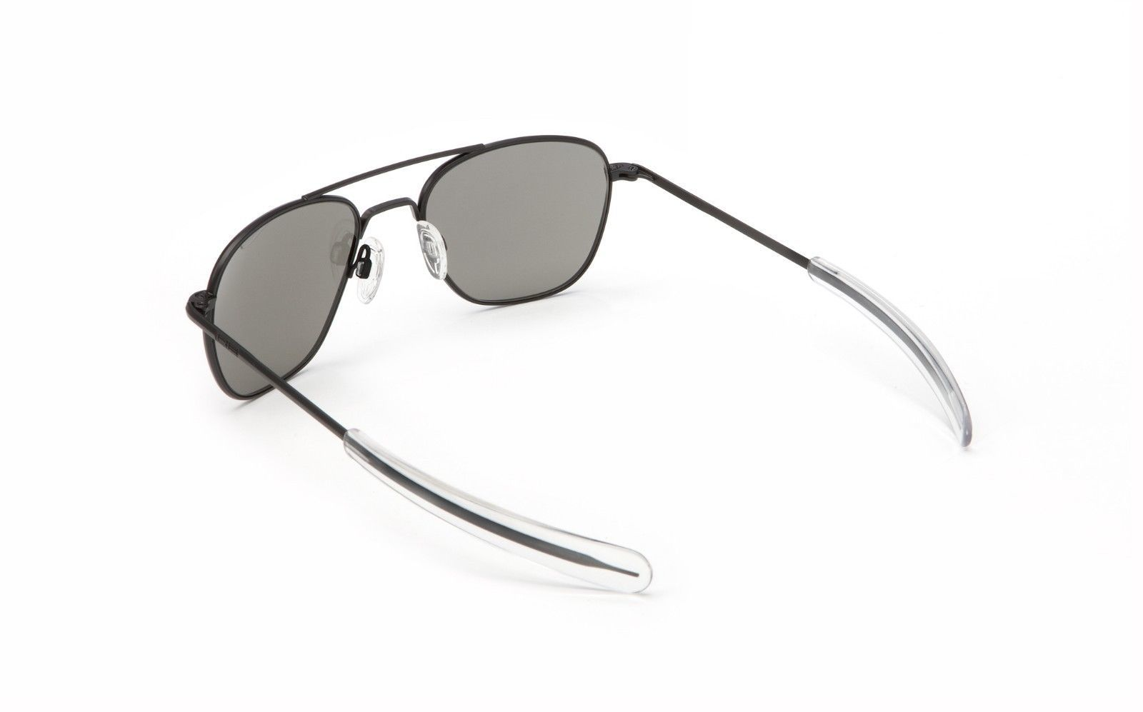 a6ea14aaf10 Randolph AF068 55mm Matte Black Bayonet Gray Polarized Aviator 2018  Sunglasses