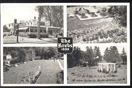 The Krebs Skaneateles NY Restaurant and Gardens 1899 Multiview Postcard - $4.99