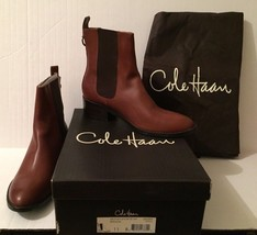 COLE HAAN Air Evan Brown Women's Leather Short Boots Sz 11 B New Box Dus... - $242.74