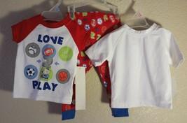 Lot of 3 New! INFANTS Baby BOYS or girls Sports Pajama & Rashguard 12 Mo... - $10.84