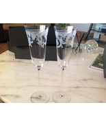 VERSACE Arabesque Crystal Champagne Flutes, Wedding Toast In Box - $200.00