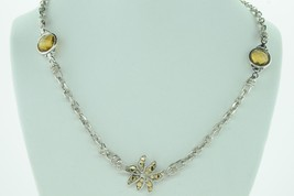 JOHN HARDY Sterling Silver 18K Yellow Gold Ayu Frangipani Citrine Neckla... - $820.00