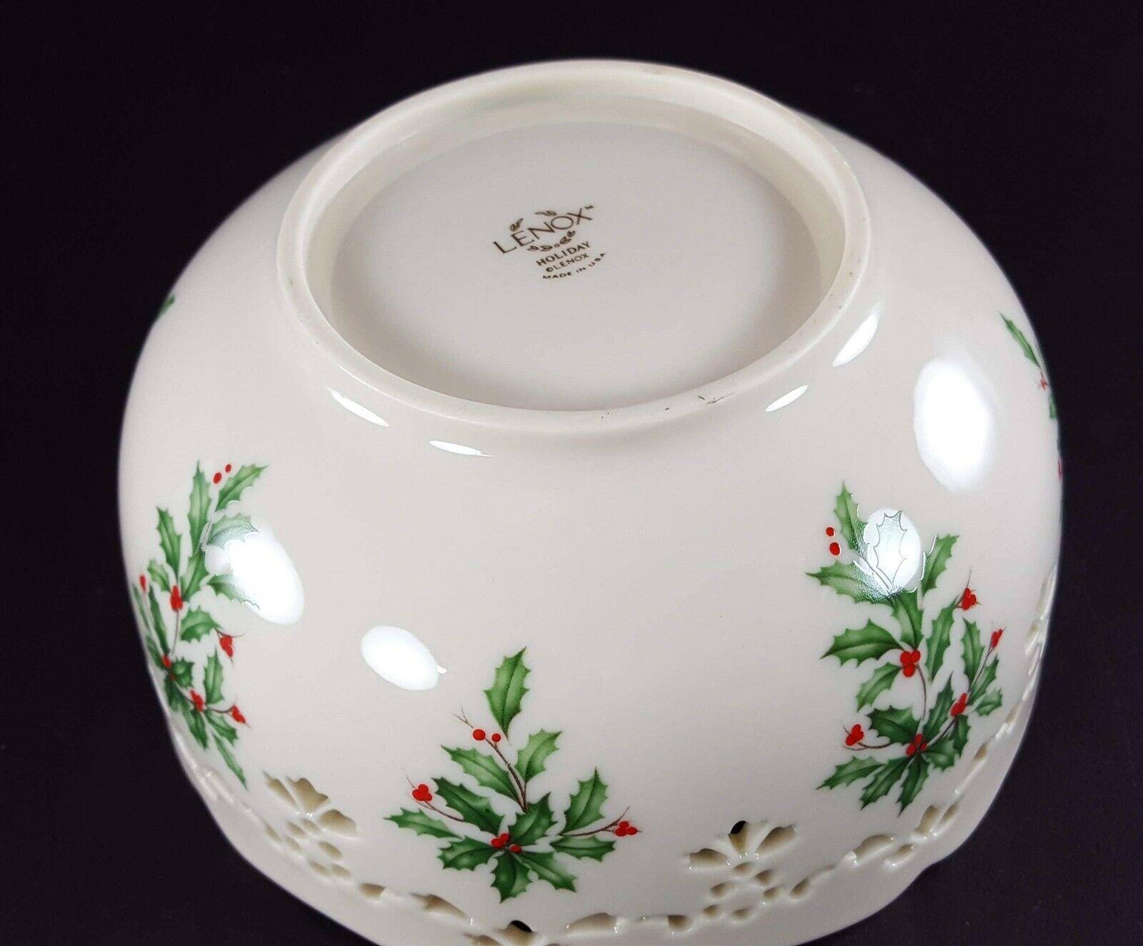"LENOX China Holiday Dimension Pierced All Purpose Bowl 6"" Dinnerware image 6"
