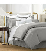 Charter Club Damask Solid 500 Thread Count Twin Duvet Cover, Slate - $59.39